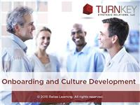 On-Boarding and Culture Development